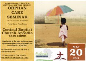 Orphan Care Seminar Bulletin Insert3